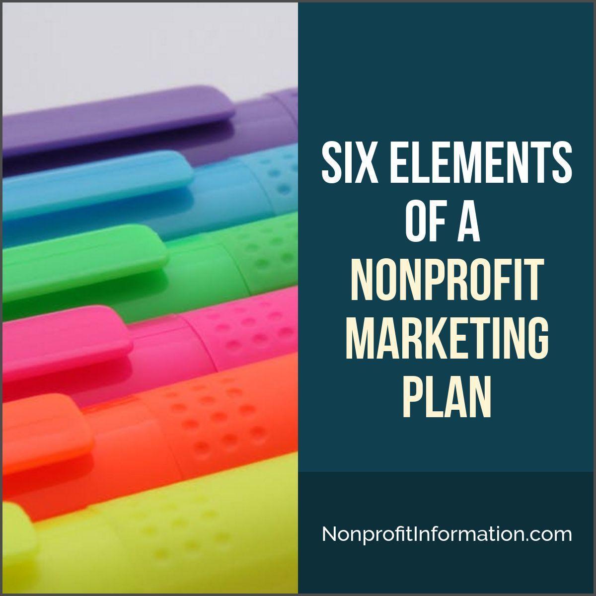 The Marketing Matrix Six Elements Of A Nonprofit Marketing Plan