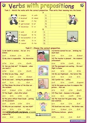 Verbs With Prepositions 1 For Intermediate And Advanced Learner