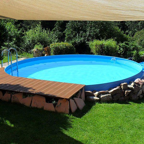 Stahlwandpool Schwimmbecken Visionzon 5,00 x 1,44m Haus - pool fur garten oval