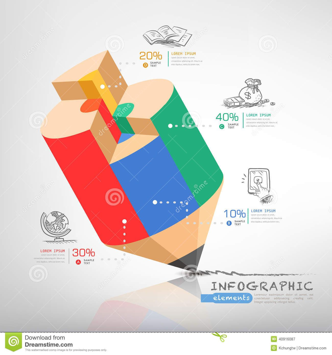 Business Education Pencil Infographics - Download From Over 52 ...