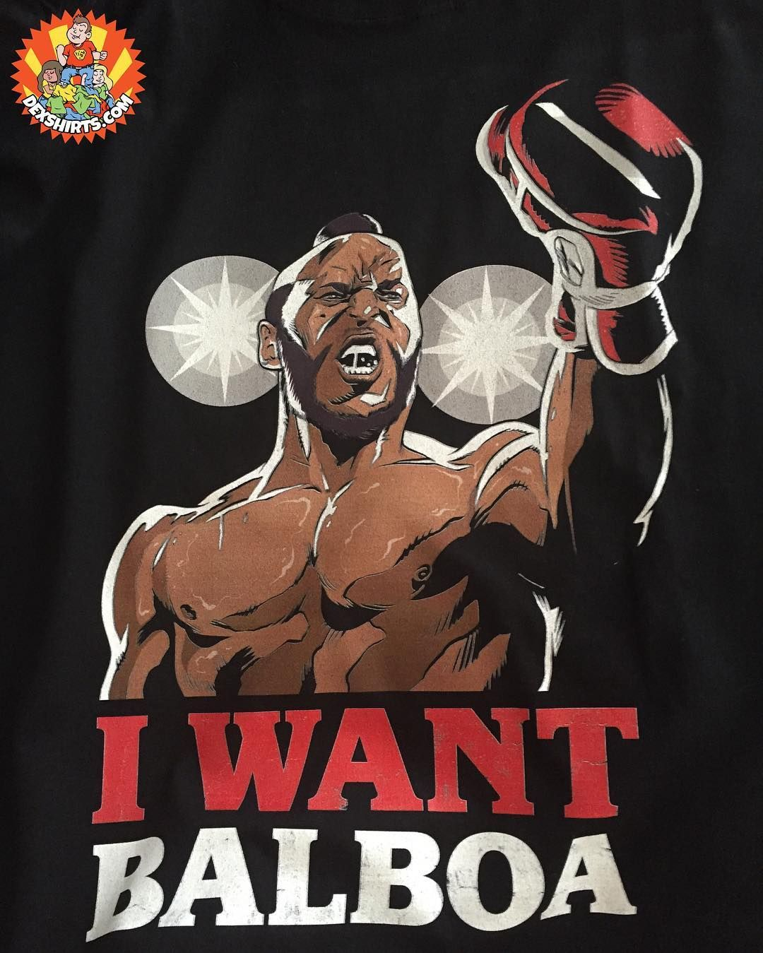 You hear me old man? I WANT BALBOA! Get our Clubber Lang tee