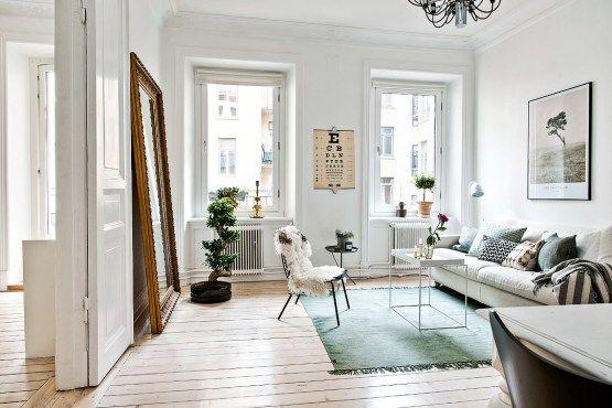 estilo nórdico escandinavo dormitorio simetría armonia dormitorio - decoracion de espacios pequeos