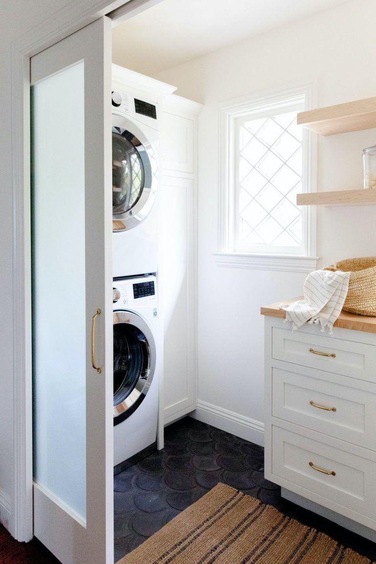 Small Laundry Room Solutions Cross Mullion Window Open Wooden