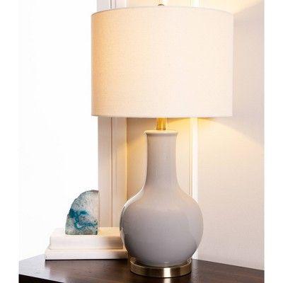 Maybury Ceramic Table Lamp Gray Abbyson Living Grey Table Lamps Table Lamp Base Table Lamp