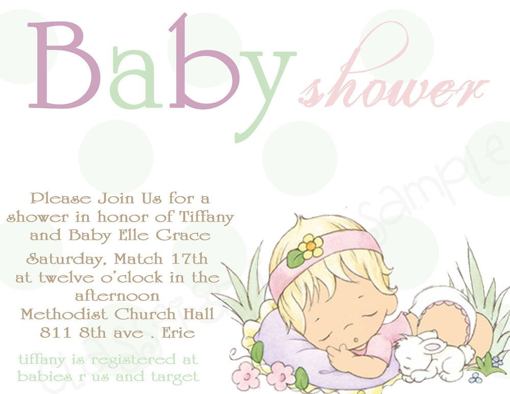 Little Baby Shower Precious Moments Invitation Announcement 1 2
