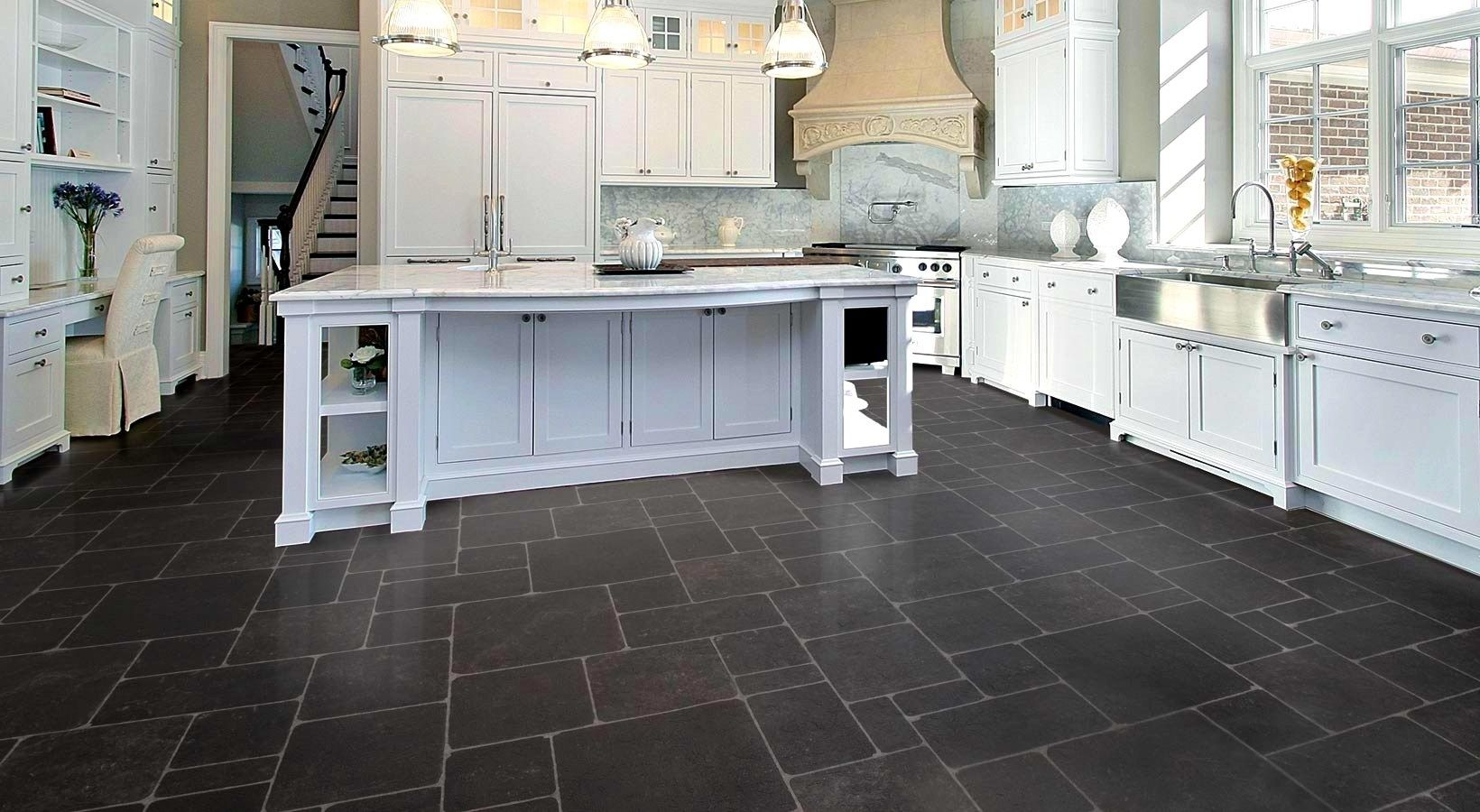 installing tiles floor tile lay flooring dry step by slate