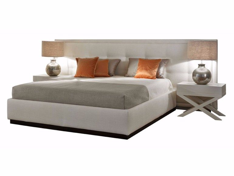 Fabric Double Bed With Upholstered Headboard JAZZ By SOFTHOUSE