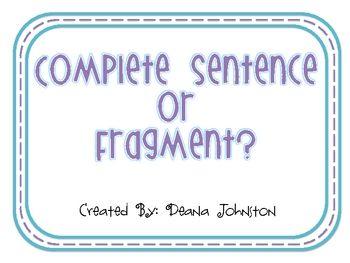 Complete Sentence or Fragment? | Language | Pinterest