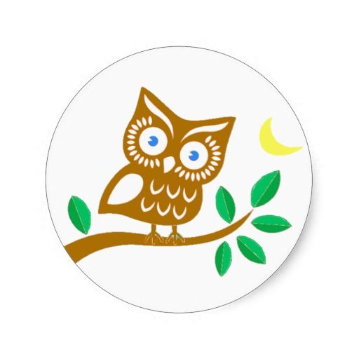Shop cute owl classic round sticker created by personalize it with photos text or purchase as is