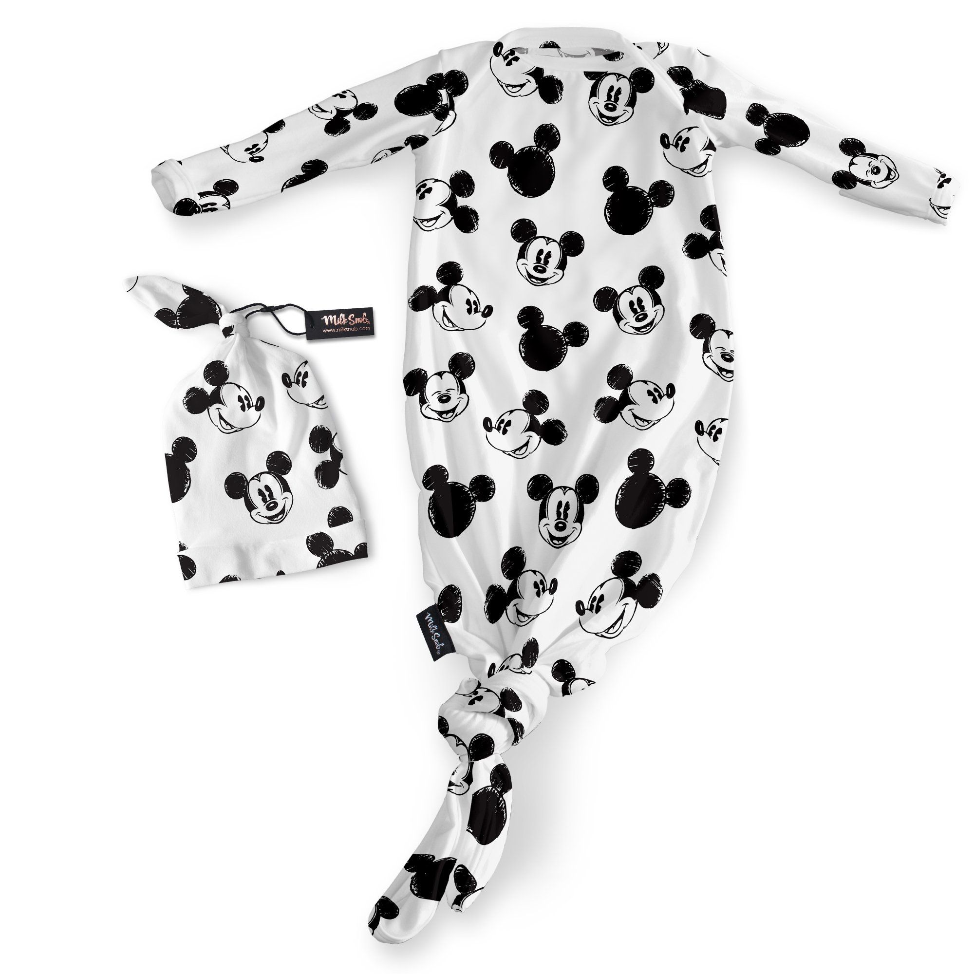 0186df8ed Knotted Gown & Hat Set -Mickey Sketch | Take Me Home Gowns | Baby ...