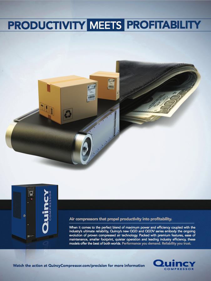 Print ad campaign for Quincy Compressor. Compressors