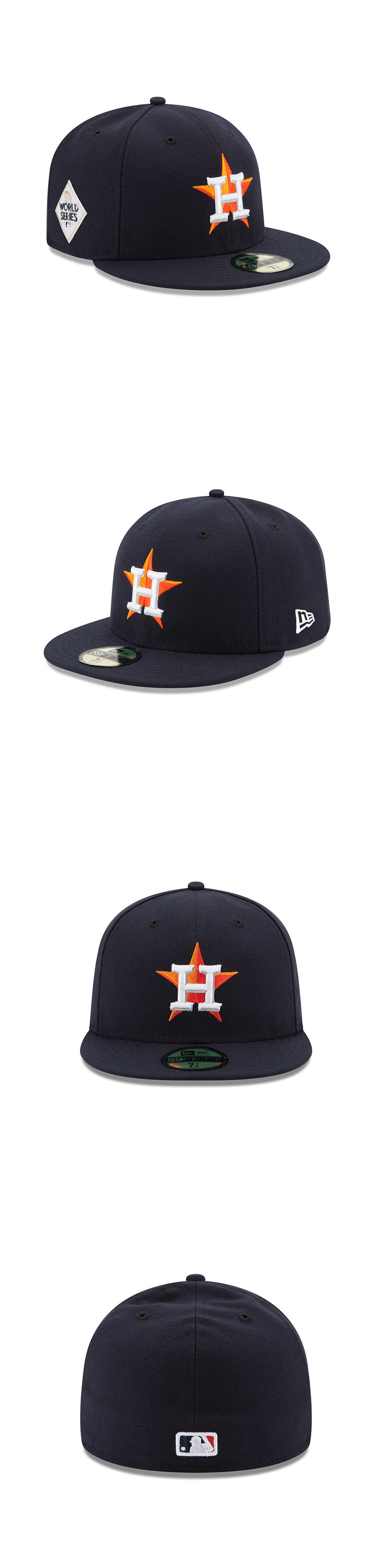 super popular d9423 5fbd7 ... order sports memorabilia houston astros new era 2017 world series side  patch 59fifty fitted hat a184c