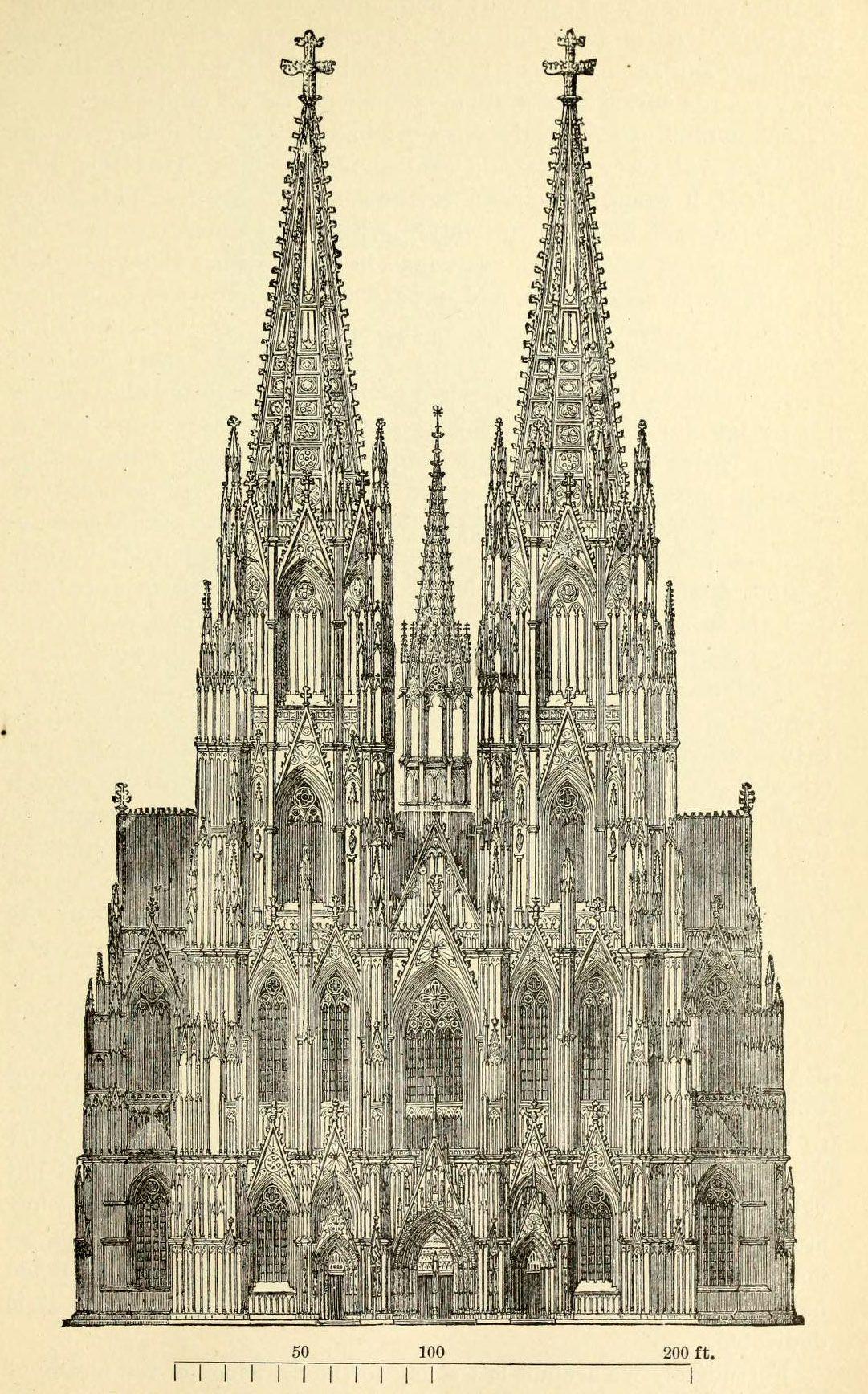 The Projected Facade Of Cathedral Cologne