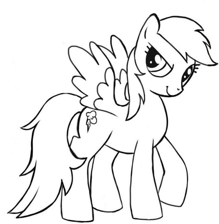 Rainbow Dash The Little Pegasus Coloring Page Free To Print Letscolorit Com My Little Pony Coloring Unicorn Coloring Pages Rainbow Cartoon