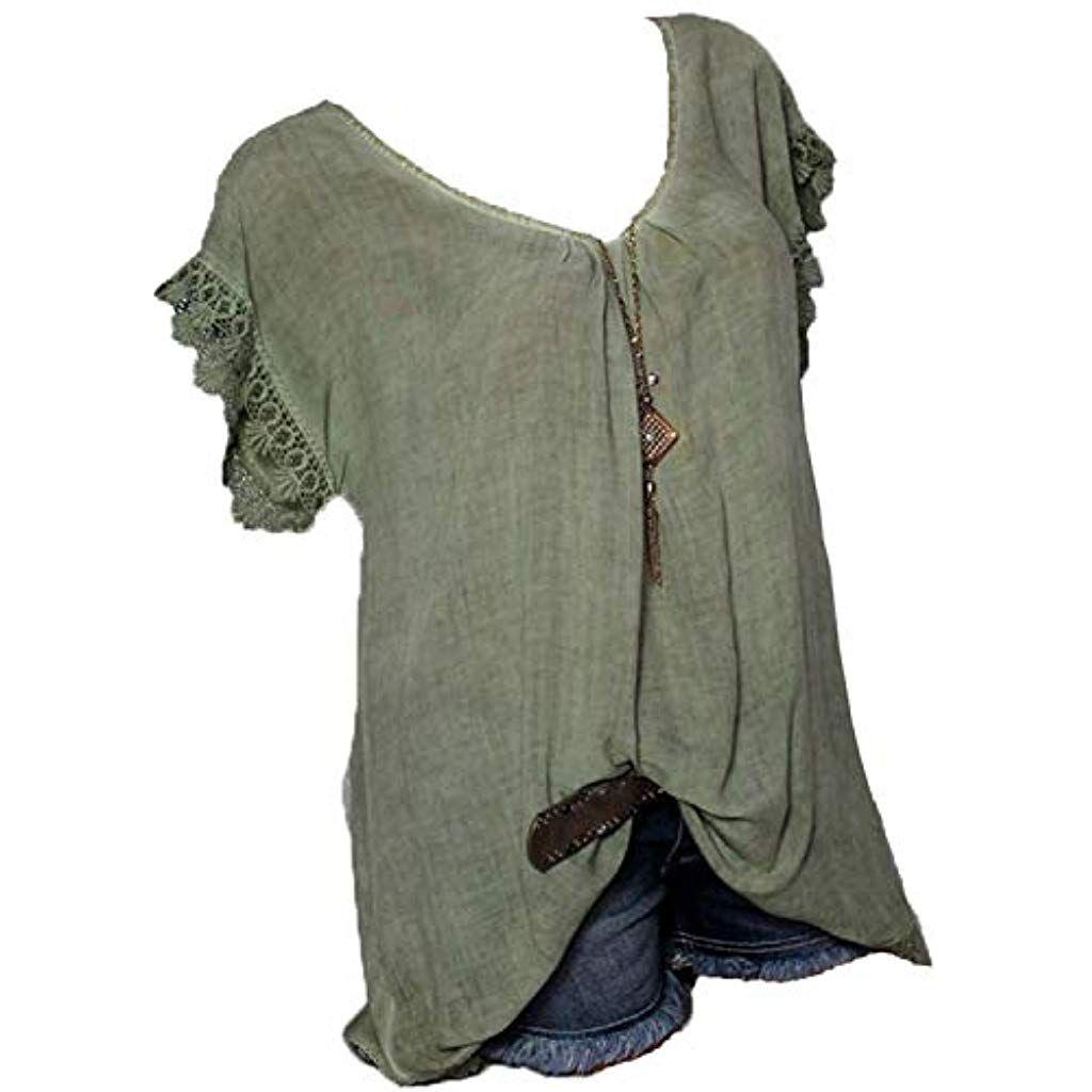 süß neues Konzept neues Rolanscia Damen Elegante Blusen Tuniken Hemd Bluse Sommer ...