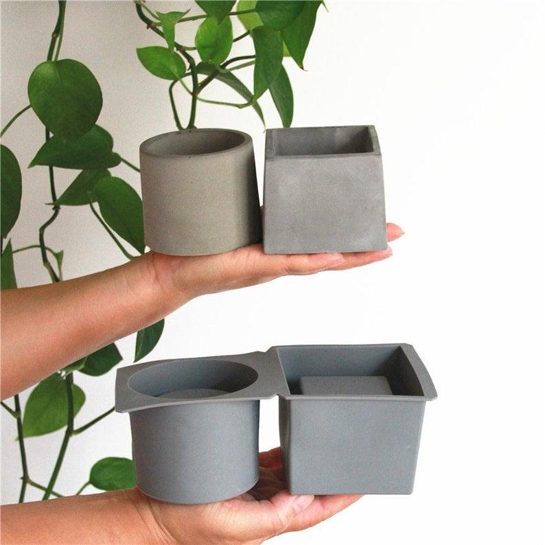 Molds For Concrete Flower Pot Cement Molds Succulent Plants Pot