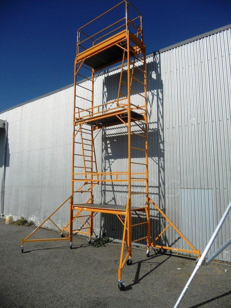 Details about Steel Mobile Scaffold Tower, Platform Ht 5.2