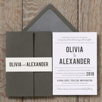 playbill wedding invitation olivia alexander paper source - Paper Source Wedding Invitations