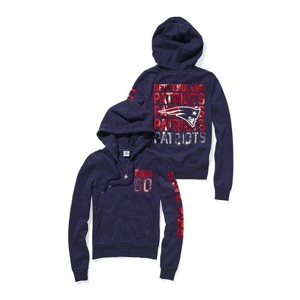 Victoria S Secret New England Patriots Bling Zip Hoodie New England Patriots New England Patriots Sweatshirt Patriots Sweatshirt