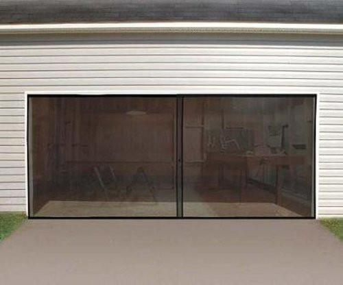 Anaconda Double Garage Door Screen Black 16 W X 7 H Double Garage Door Garage Screen Door Garage Doors