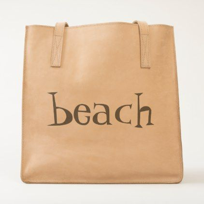 beach in modern fun letters tote - accessories accessory gift idea