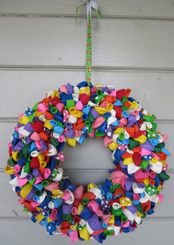Balloon Wreath by ritzywreaths on Etsy, $65.00