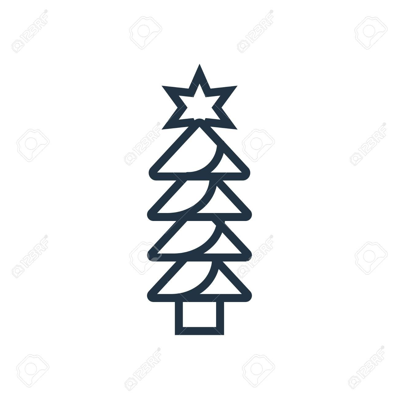 Christmas Tree Icon Vector Isolated On White Background Christmas Tree Transparent Sign Aff Icon Vector Christmas Tree Isolated Disenos De Unas