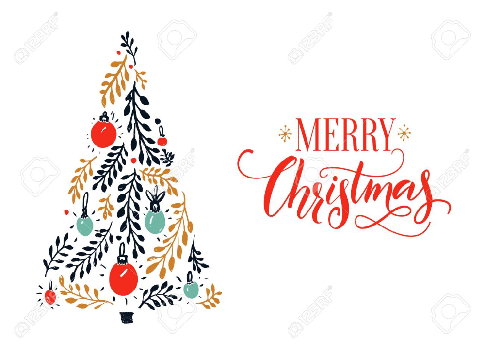 Merry Christmas Card Design With Red Calligraphy Caption And Christmas Card Design Merry Christmas Card Design Merry Christmas Card