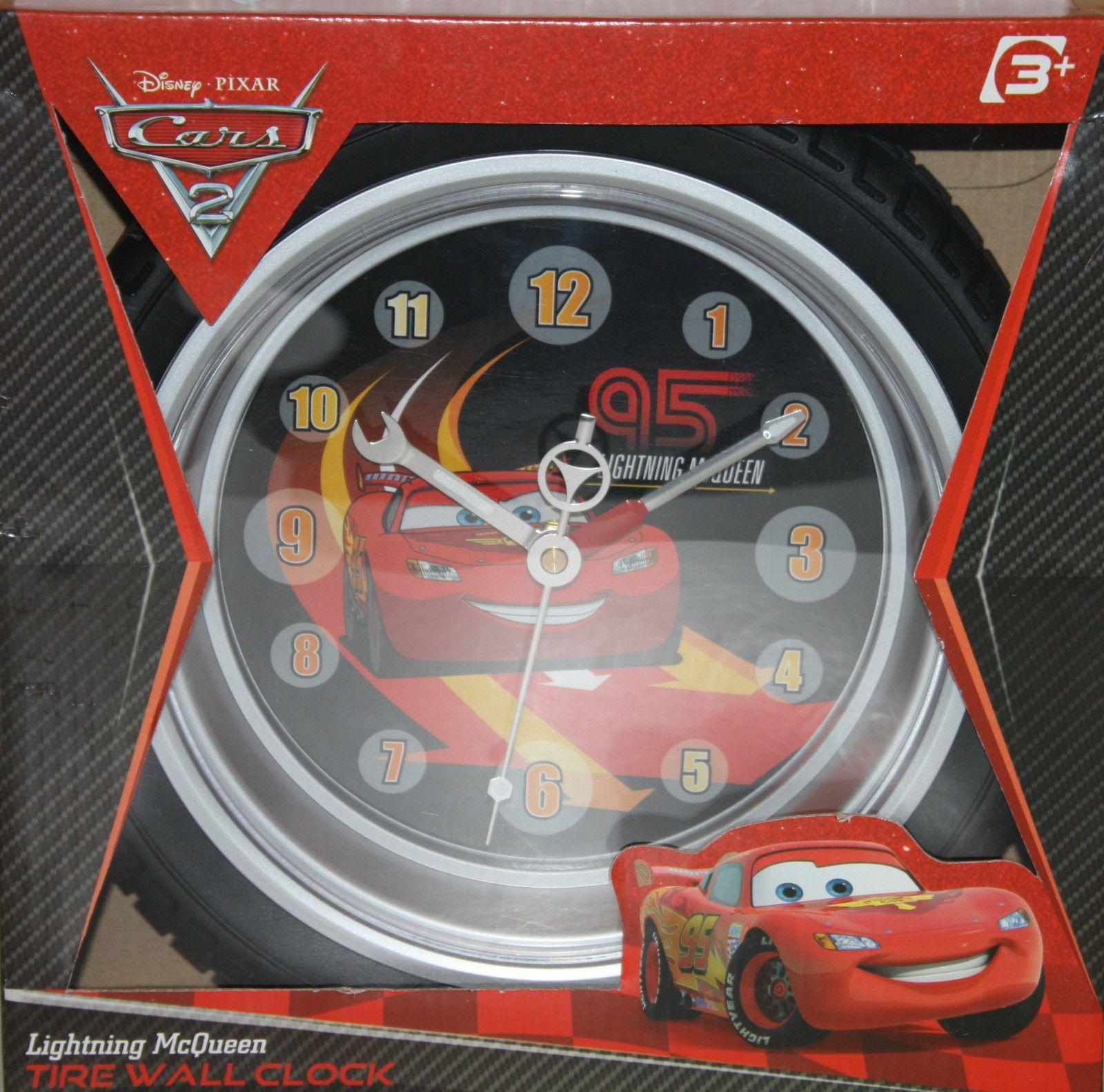 Lightning Mcqueen Bedroom Accessories Disney Cars 2 Lightning Mcqueen Tire Wall Clock Rubber Tire Case