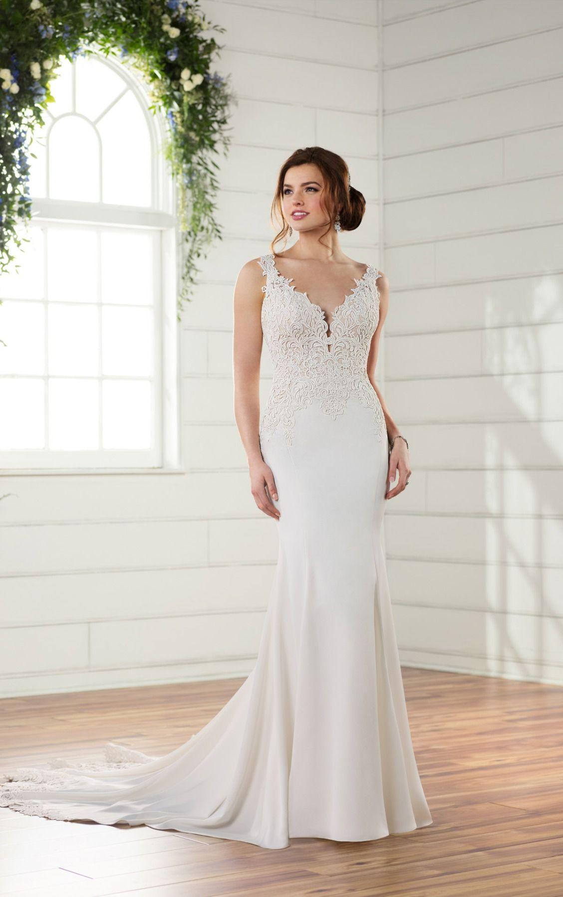 Off-the-Shoulder Lace Wedding Dress | Wedding dress, Lace wedding ...