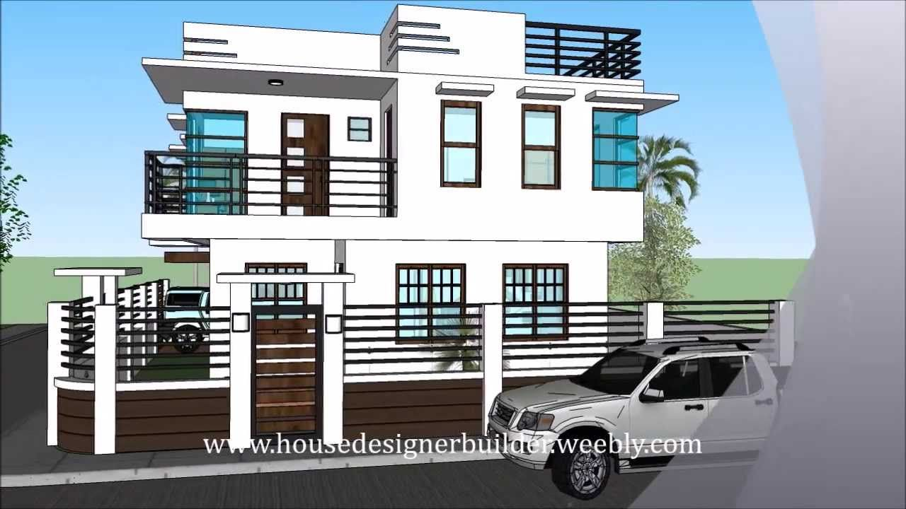 Modern 2 Storey House With Roofdeck Huis Idees House Design