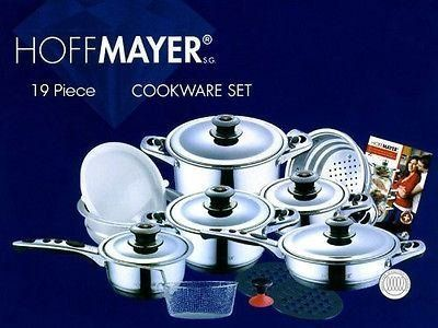 Hoffmayer 19 Pc Premium Surgical Stainless Steel Cookware Set
