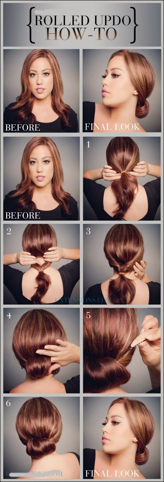 Check out this super easy simple curly updo hairstyle tutorial to