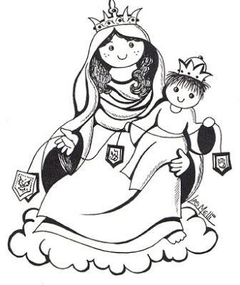 El Rincon De Las Melli Dibujos Virgen Caricatura Historias Para Ninos Cristianos