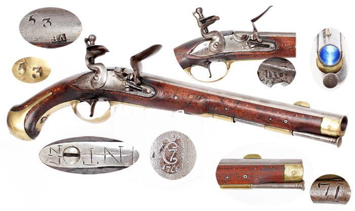 Danish M 1772 Flintlock Dragoon Pistol Fine Steinschlosspistole