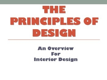 Principles Of Design Introduction For Interior Design Family Consumer Science Fcs Unit Plan