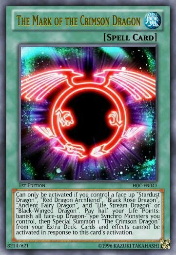 The Mark of The Crimson Dragon Spell Card | Yugioh cards