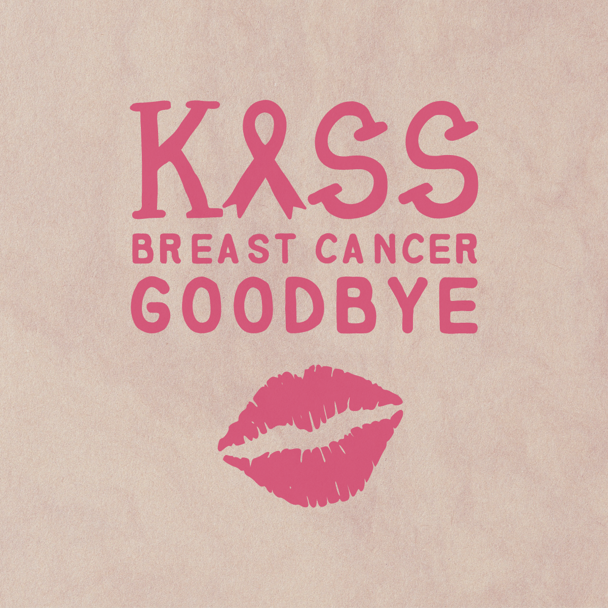 Support the cause and pass the kiss on! #breastcancerawareness #thinkpink