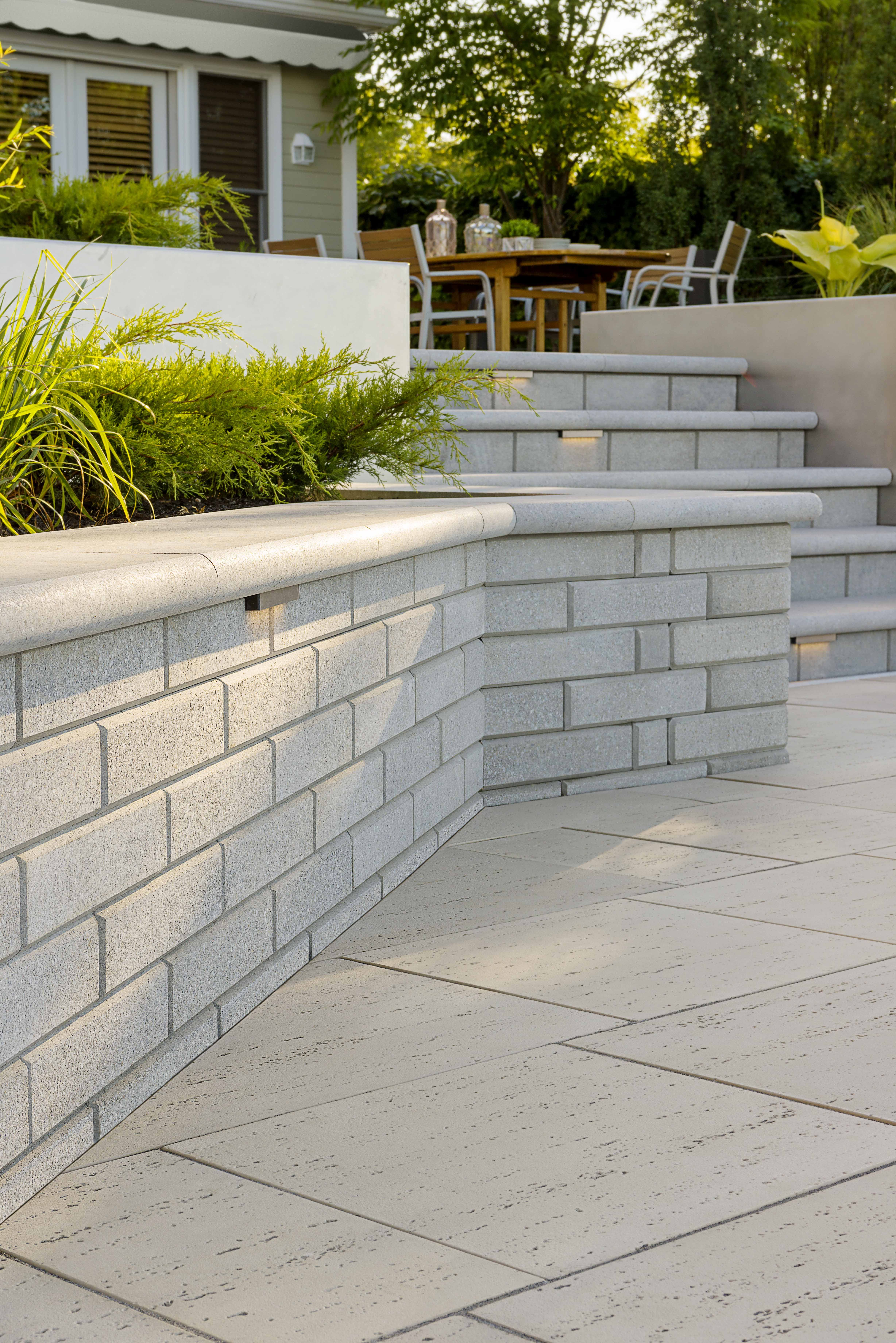 This Retaining Wall Look Is Inspired By Our Raffinato Polished