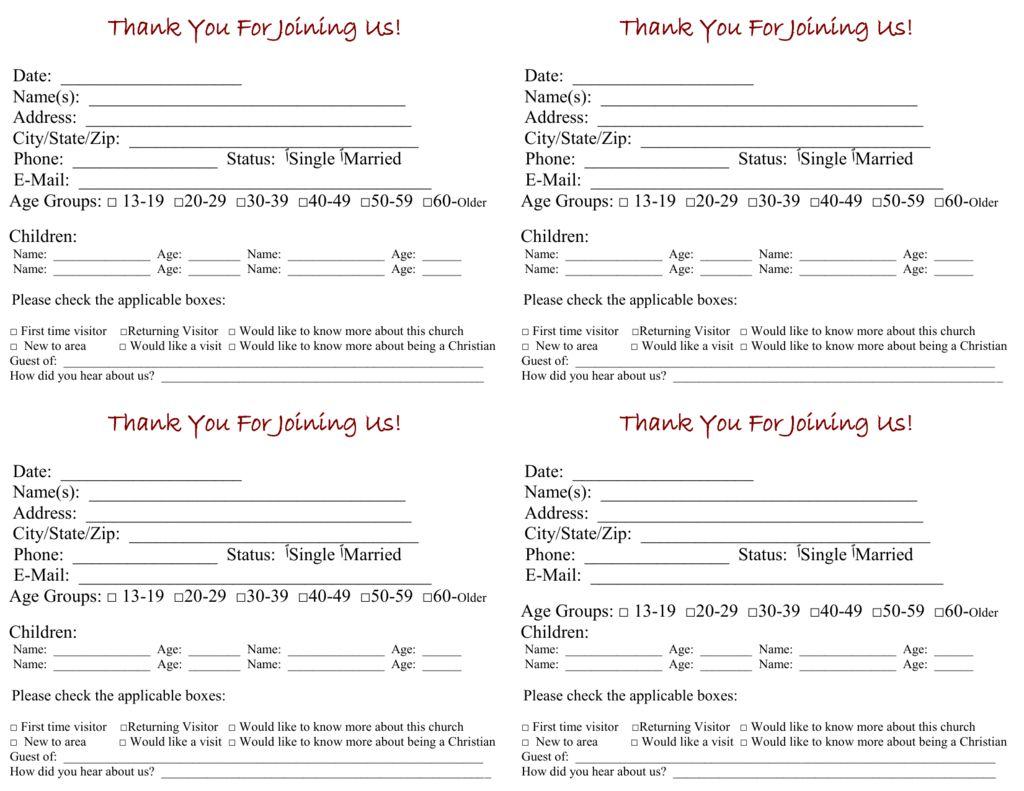 Church Contact Card Template Milas Westernscandinavia Regarding Church Visitor Card Template Contact Card Template Card Template Free Business Card Templates