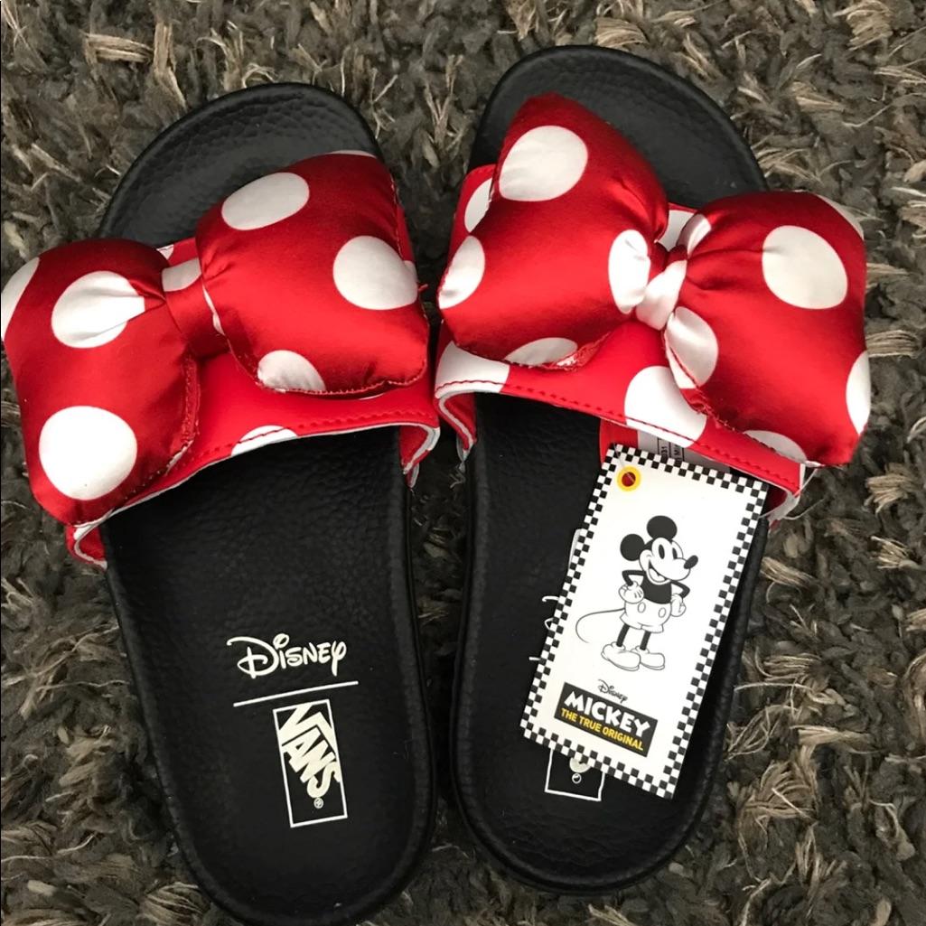 Vans Minnie Mouse Slide | Minnie mouse