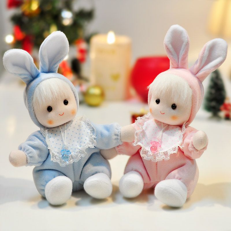 Blue rabbit doll music box cute baby music box for birthday gift | Buytra.com