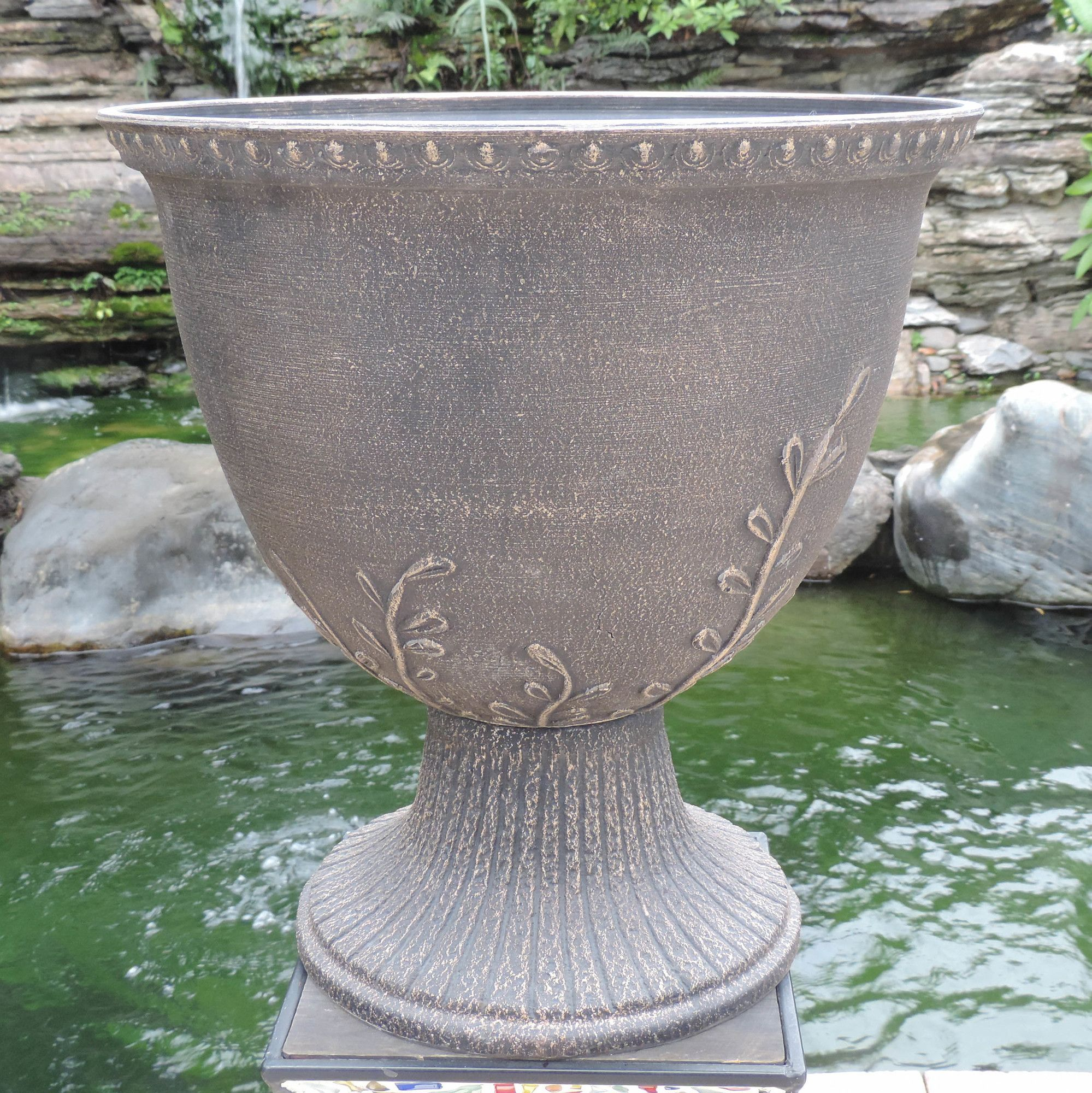 jeanbolen terra black planter rain garden info nz urn cotta barrel ideas urns clearance