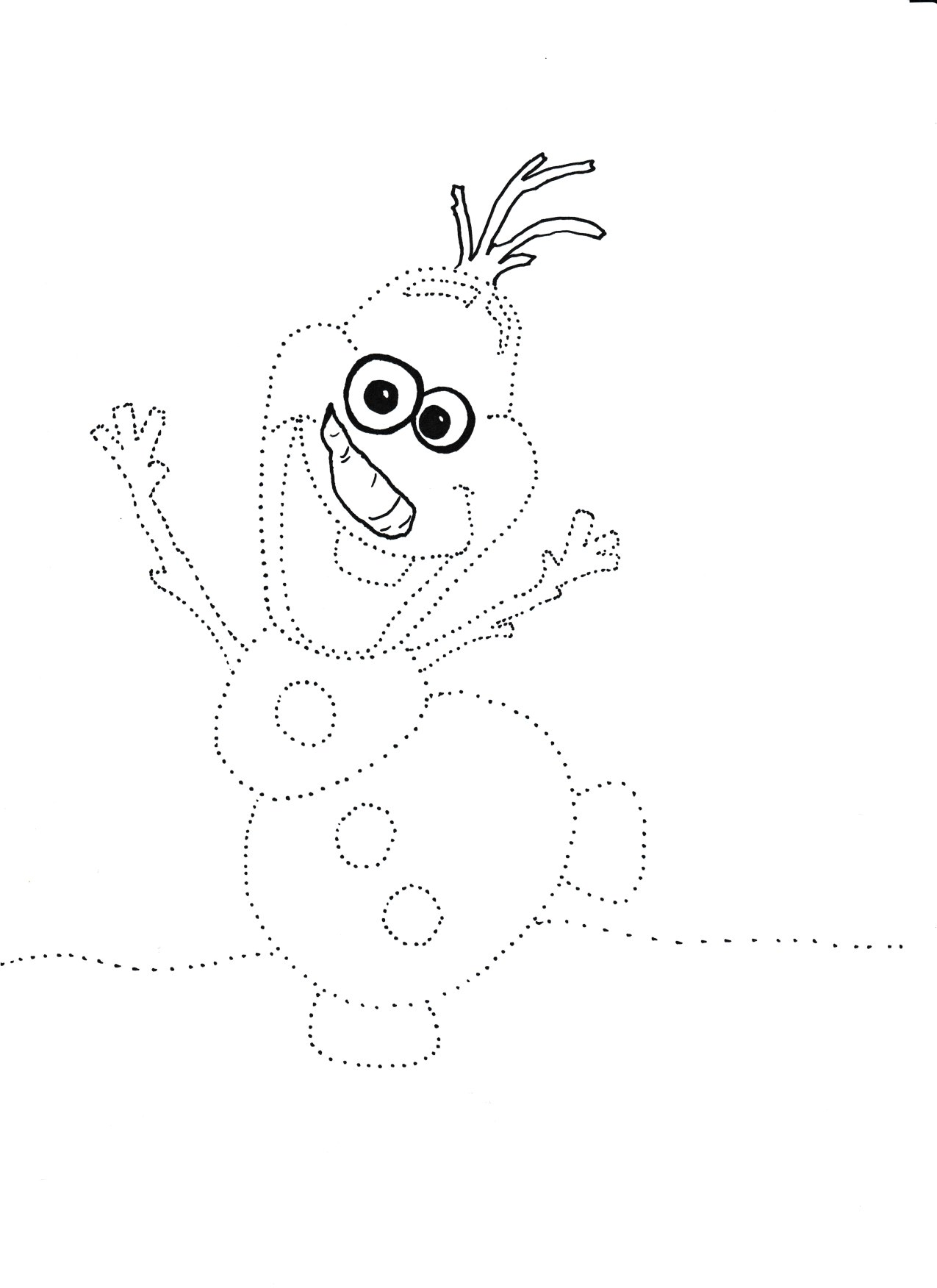 Balwan Olaf Grafomotoryka I Nauka Rysowania Moje Dzieci Kreatywnie Olaf Handcraft Crafts For Kids
