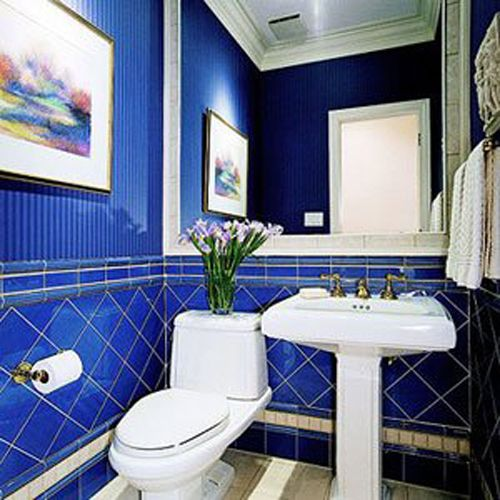Cobalt blue tile bathroom cobalt blue counter tops for Blue tile bathroom ideas