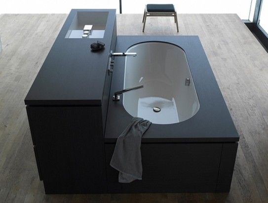 modular bathroom furniture bathrooms design. Compact Bathrooms Shower Sink ComboA Sink, A Tub And Built-in Storage Come Together In One Simple Black Unit. The \u0027Be Yourself\u0027 Collection By Sieger Design Modular Bathroom Furniture I