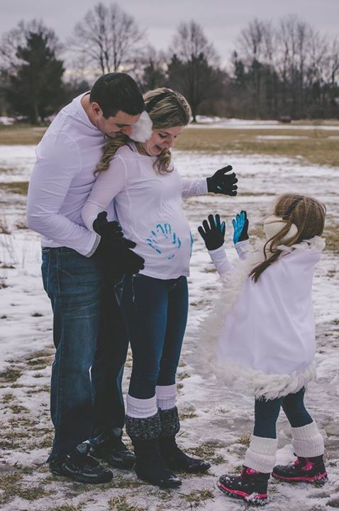 Gender Reveal with paint