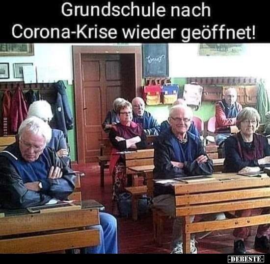 Photo of Grundschule nach Corona-Krise wieder geöffnet! | Lustige Bilder, Sprüche, Witz…