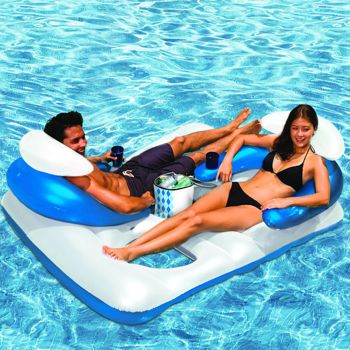 Costco Poolmaster Arctic Chill Double Lounger With Ice Bag Yes