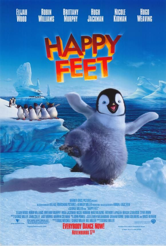 Happy Feet Movie Posters From Movie Poster Shop Happy Feet Animated Movies Penguins